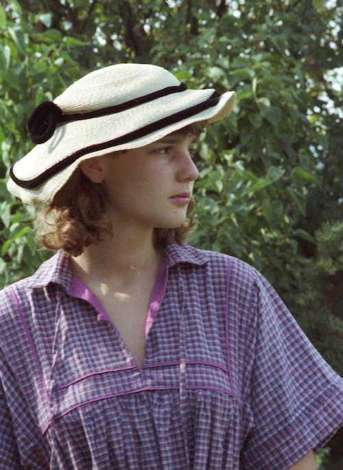 Annette Ahlborn 1979 - mit Hut