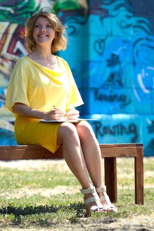 Johanna Franzisika Joy Kriks, 41, Texterin, Workshopleiterin, Regisseurin und Videoproduzentin aus Wien
