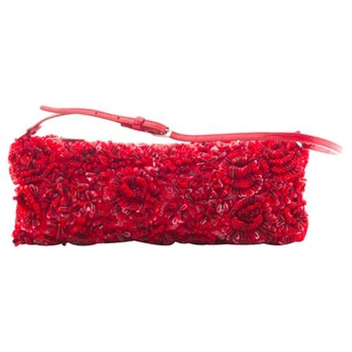 Vintage. Abendtasche von Valentino in Rot.