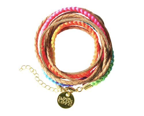 Hippie-Armband in Regenbogenfarben