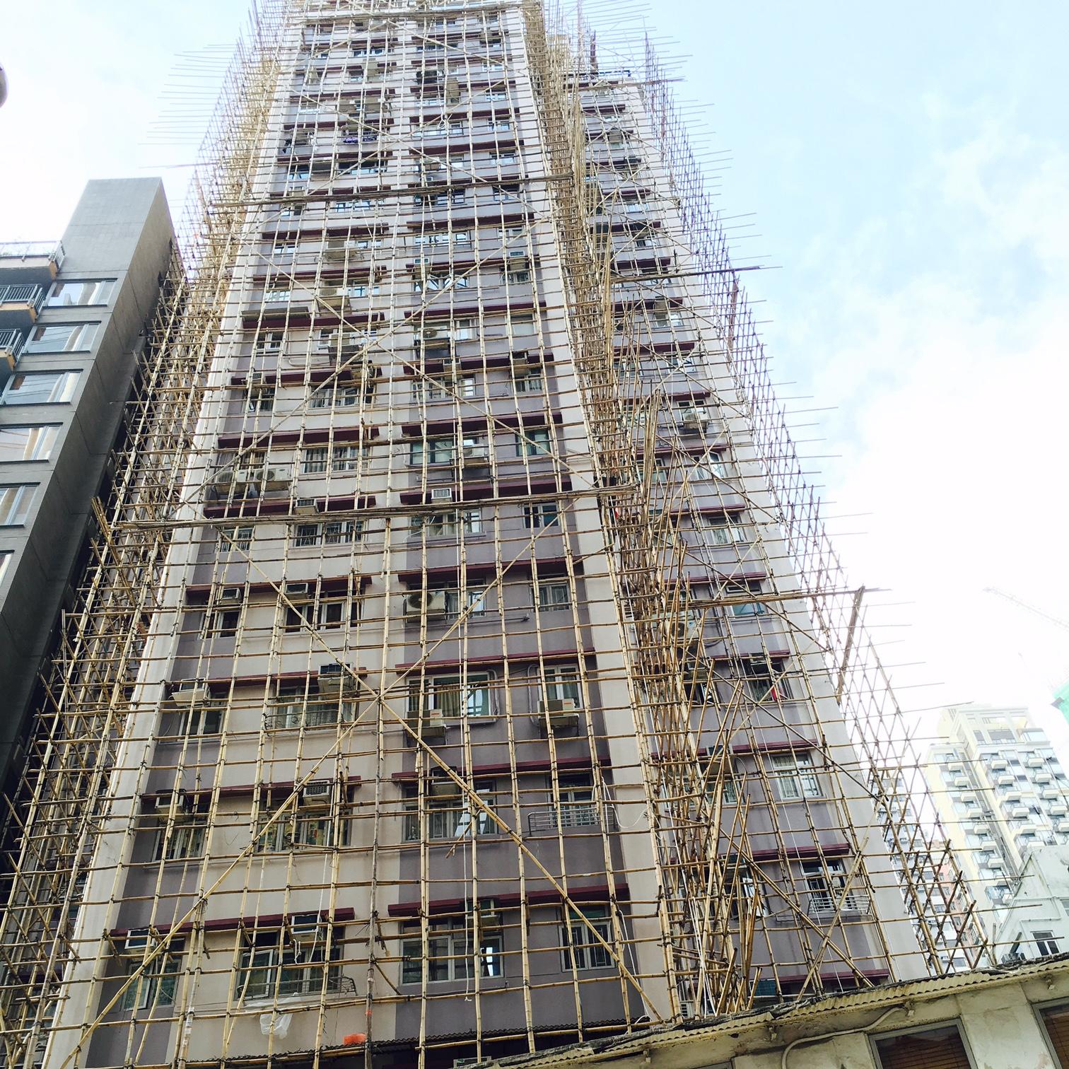Gerüstbau: Bambus statt Eisen