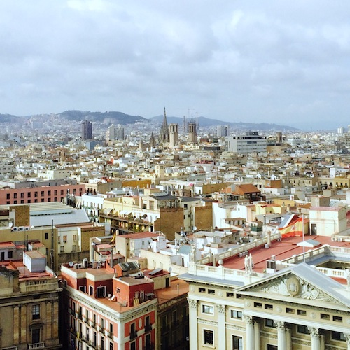 Blick auf Barcelona - von der Kolumbussäule aus gesehen.
