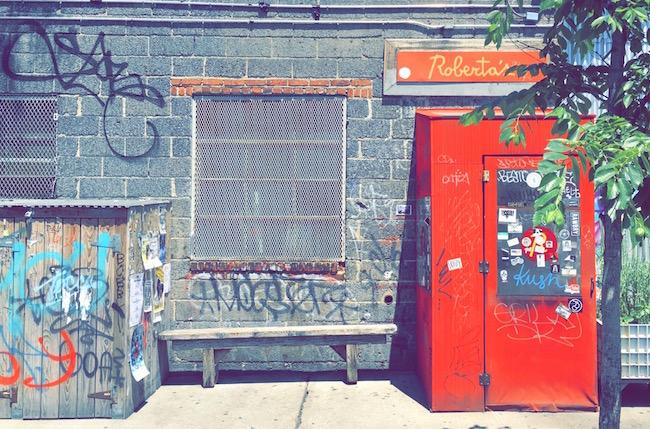 Bushwick Impressionen. Bushwick ist ein Stadtviertel in Brooklyn, New York.