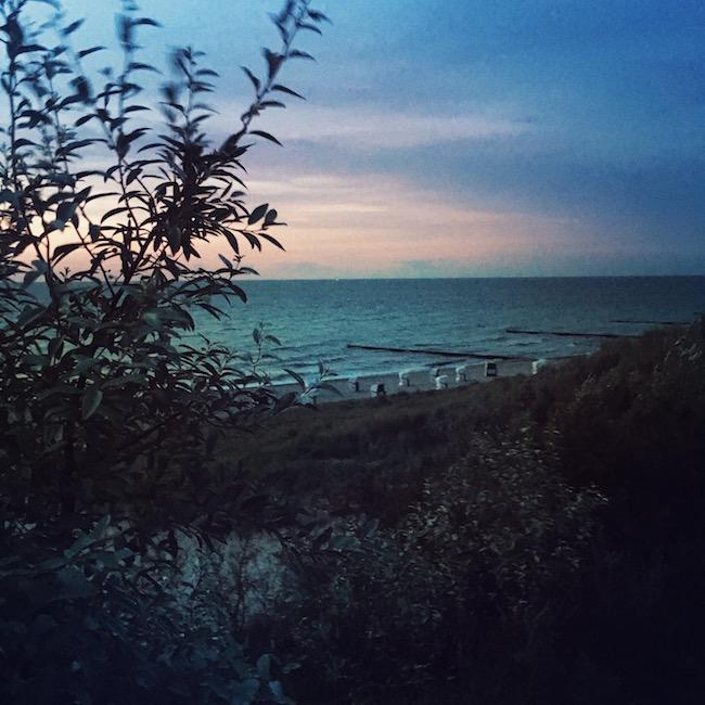So schön ist der Darß! Abendlicher Blick vom Steilufer in Ahrenshoop.