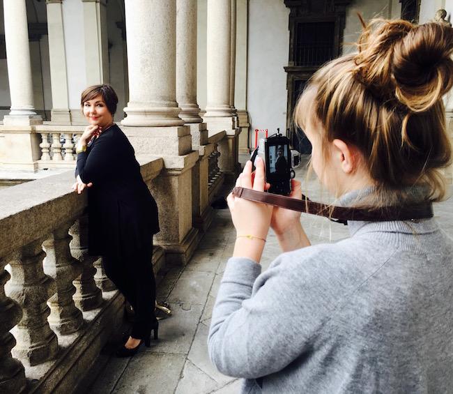 Fotoshooting in der Pinacoteca de Brera