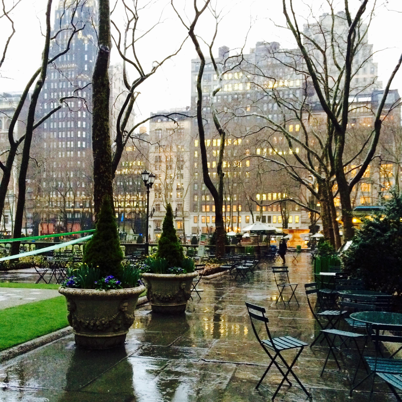 Bryant Park im Regen