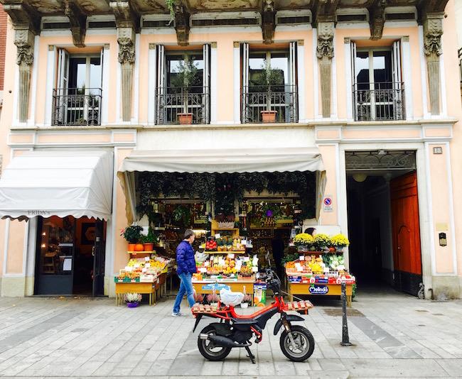 Obstgeschäft in Mailand