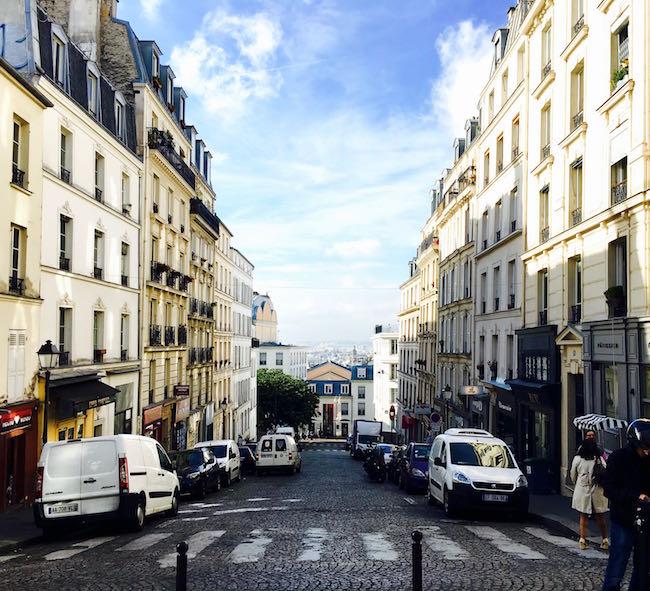 Paris. Blick vom Montmartre auf die Stadt