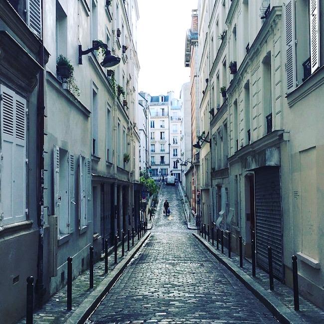 Straße am Montmatre
