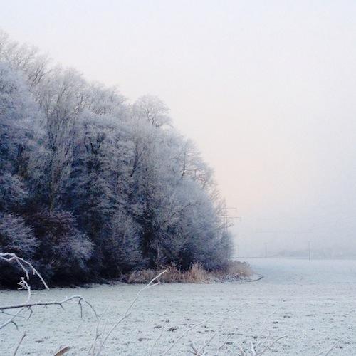 Schneelandschaft im Ampertal