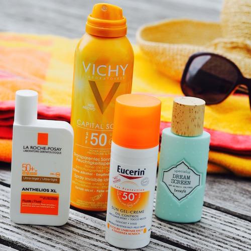 Sonnenschutzprodukte mit hohem Lichtschutzfilter von Roche Posay, Vichy, Eucerin und Benefit