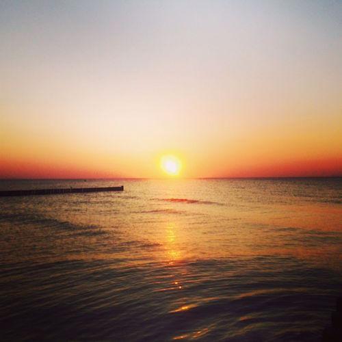 Sonnenuntergang am Darß