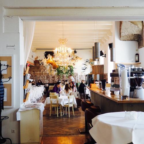 Hotel Wiesler in Graz. Speisesaal und Restaurant