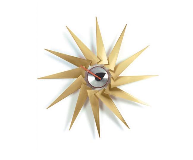 Sonnenstrahlen-Wanduhr Vitra Turbine  Clock