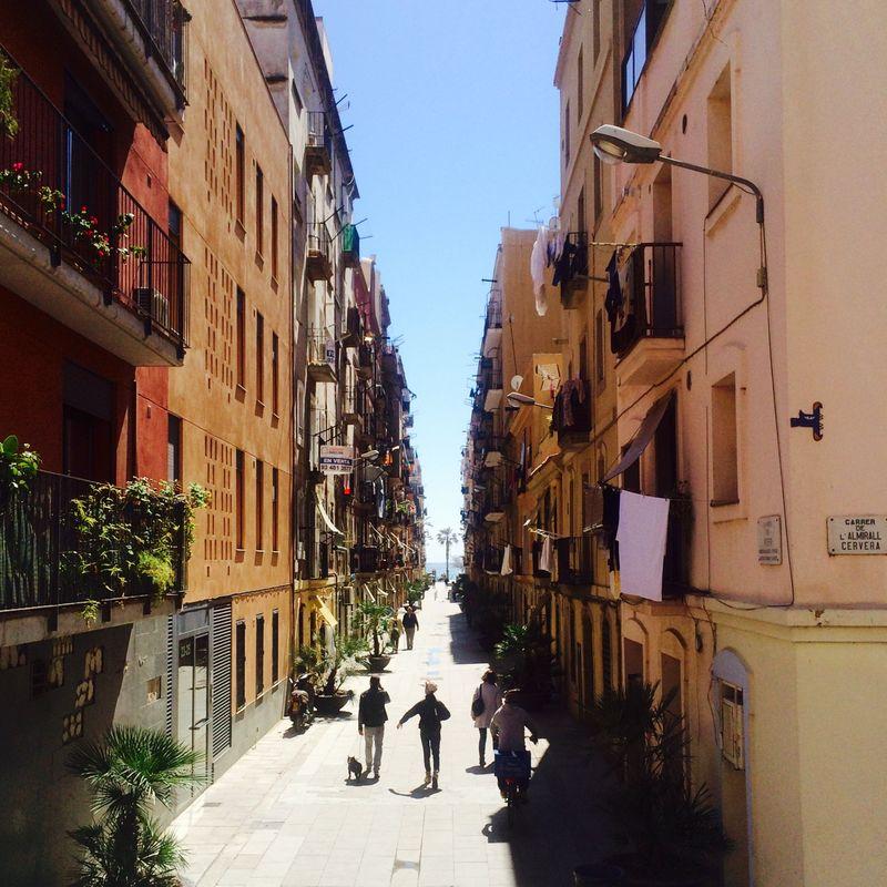 kleine Gasse in Barcelona