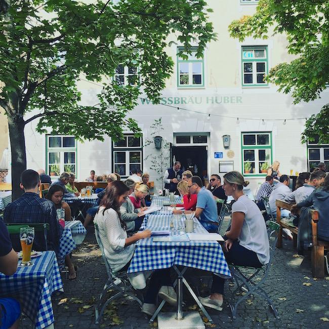 Biergarten Huberbräu in Freising