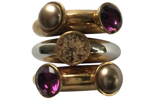 dreiteiliger Ring von Swarovski (Vintage)