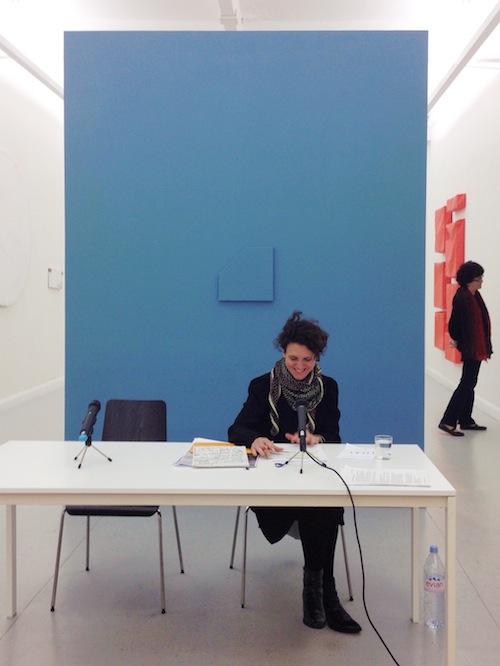 Indre Zetzsche bei ihrer ersten Lesung 2014
