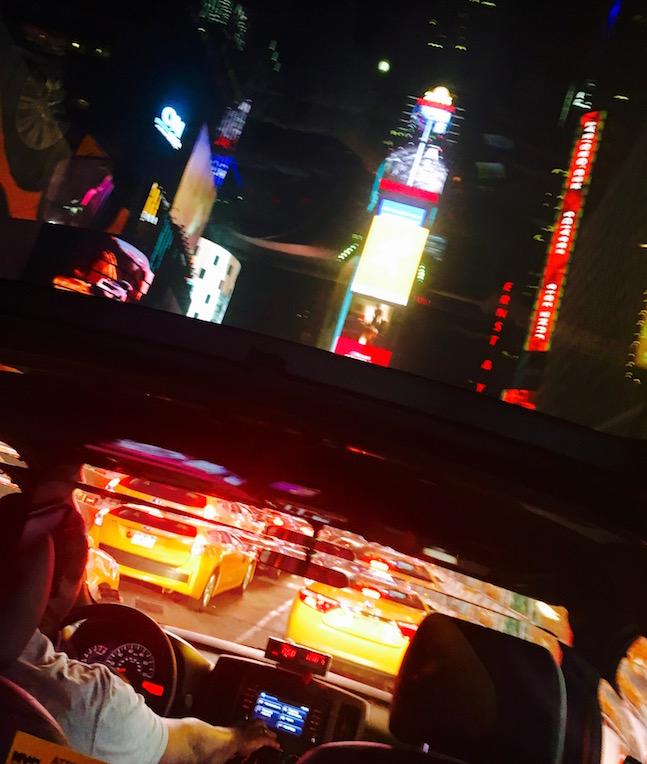 Im Taxi auf dem Nachhauseweg
