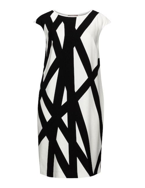 Kleid von Elena Miro in Schwarz-weiß.