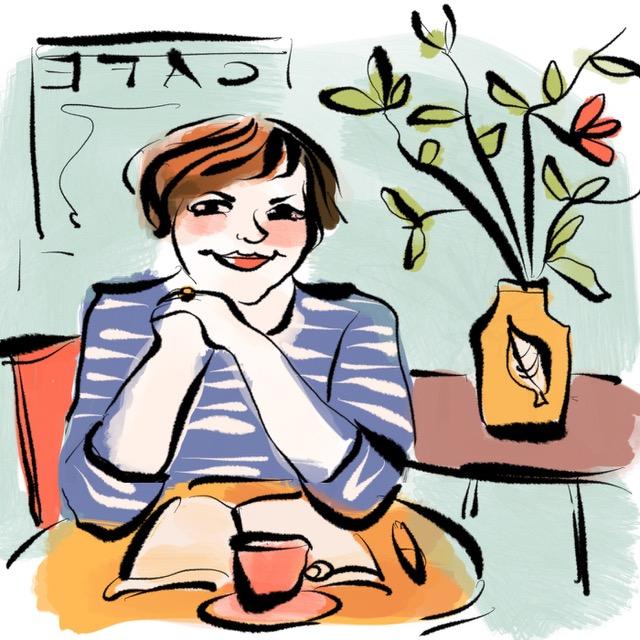 Nathalie Bromberger zeichnet Texterella.
