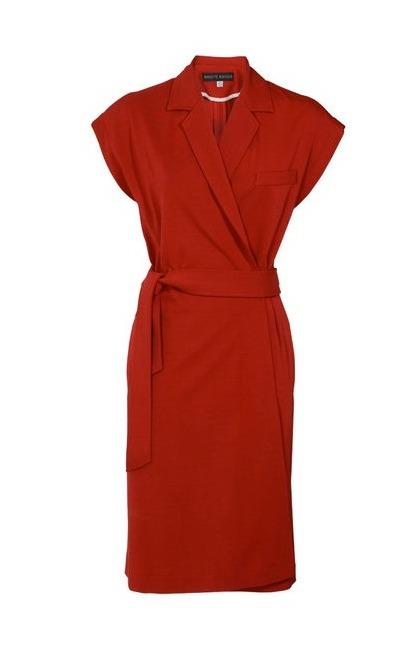 Wickelkleid in Rot