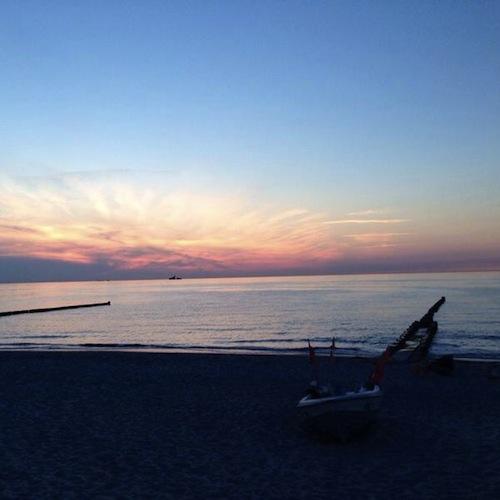 Strand im Abendrot